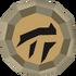 Talismã dourado detalhe