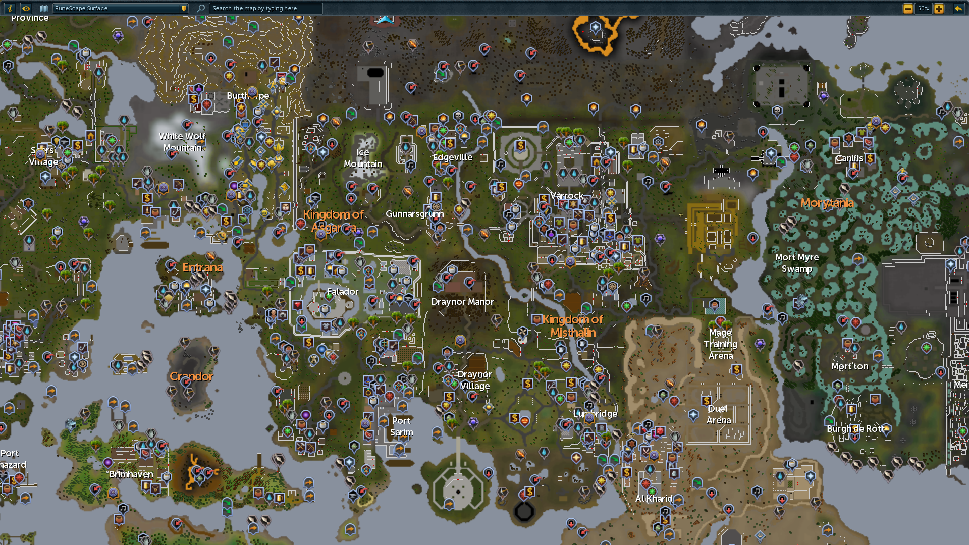 World map RuneScape Wiki