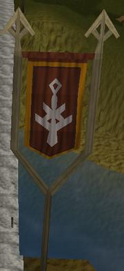 Ardougne vlag houder