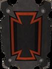 Black sq shield detail