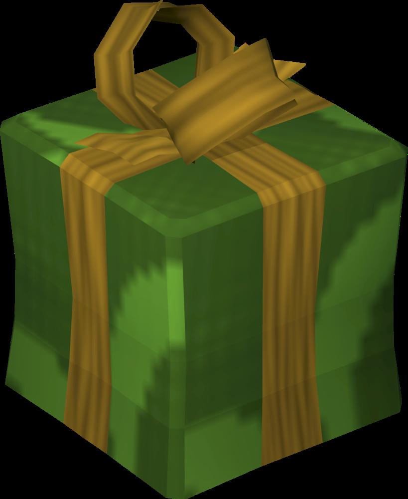 Emerald green present detail
