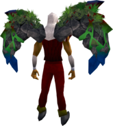Gemstone wings equipped