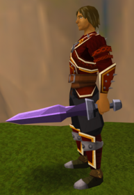 Off-hand mithril ceremonial sword I equipped