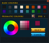 Prismatic dye interface
