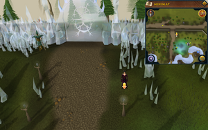 Scan clue Tirannwn south of Prifddinas main entrance