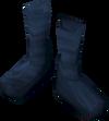 Silken boots (blue, female) detail