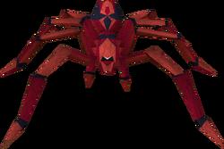 Aranha vermelha mortal