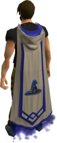 Capa de Mestre de Magia equipada