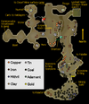 Dwarven Mine rocks map
