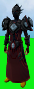 Elite tectonic armour (blood) equipped