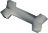 Polished experiment bone detail