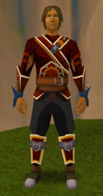 Superior skeletal gloves equipped