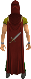 Attack cape equipped