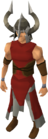 Berserker helm equipped