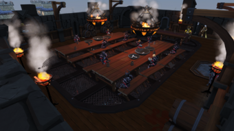 Black Knights' Fortress dining hall
