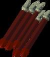 Dragon arrow detail