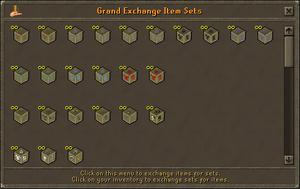 GE item sets window