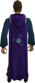 Hooded divination cape equipped