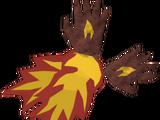 Luvas de chama