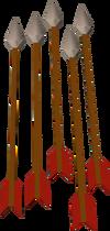 Steel arrow detail