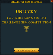 Challenge gem lose interface