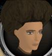 Dark brown afro chathead