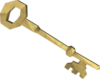 Gold key detail