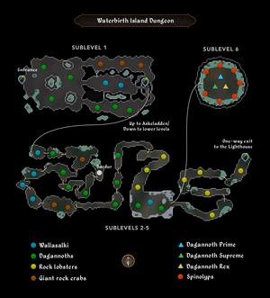 Waterbirth Island Dungeon map