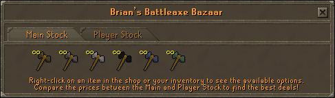 Brian's battleaxe bazaar