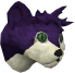 Lazy cat (purple) chathead