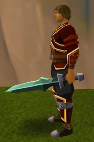 Off-hand adamant ceremonial sword IV equipped