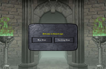 Old login screen
