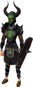 Black heraldic armour set 4 (sk) equipped