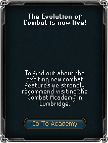 Combat Academy tab
