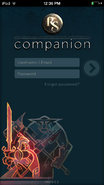 RuneScape Companion login screen