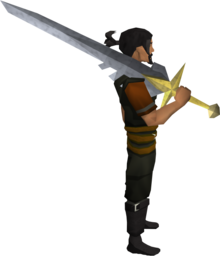 Saradomin sword equipped