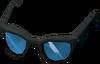 Sunglasses (blue) detail
