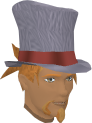 Top hat (white) chathead