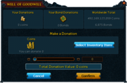 Well of Goodwill interface