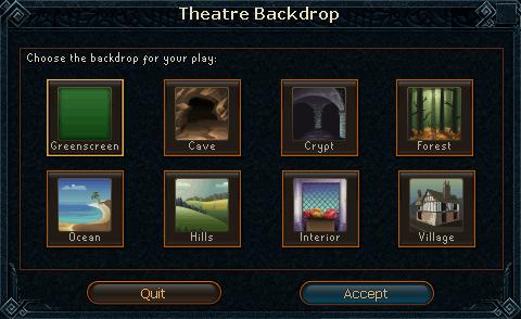Backdrop interface