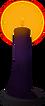 Candle (dark purple) detail