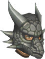 Steel dragon mask chathead