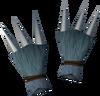 Werewolf claws (dark grey, male) detail