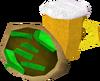 Beer and kebab detail