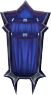 Black wizard shield detail