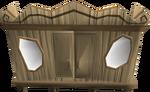Carved oak magic wardrobe detail