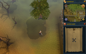 Compass clue Ardougne north of West Ardougne wall