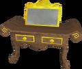 Gilded dresser detail