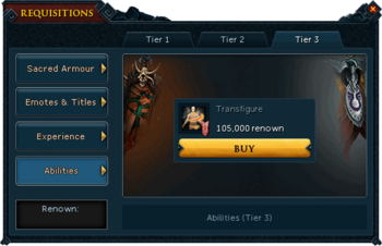 Requisitions Abilities (Armadyl Tier 3)