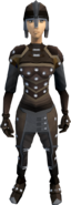 Studded leather armour (female) equipped